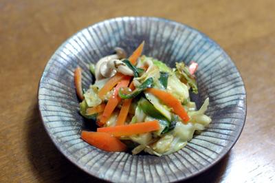 梅醤レシピ 野菜炒め